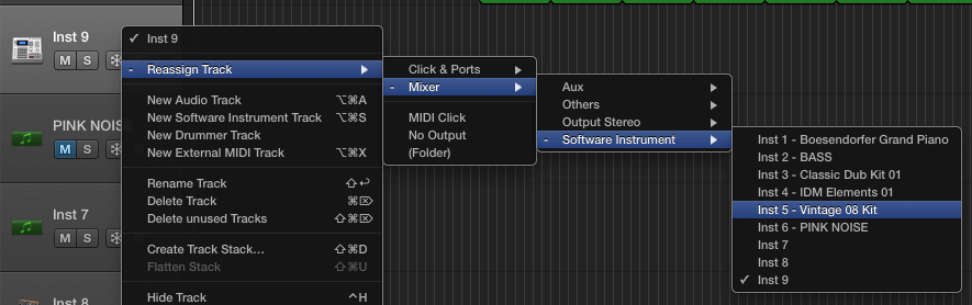 Use this to create multiple MIDI lanes for a single instrument. Great for layering your drums MIDI parts!
