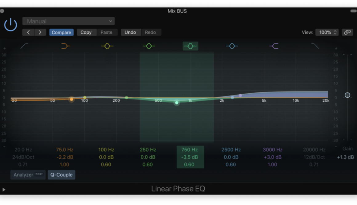 linear minimum phase eq